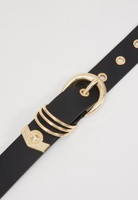Versace Jeans Couture - RING HARDWEAR BELT - Pásek - black - 5