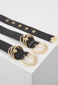 Versace Jeans Couture - RING HARDWEAR BELT - Pásek - black - 2