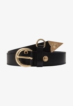 HORSESHOE BUCKLE STUDDED BELT - Cintura - black