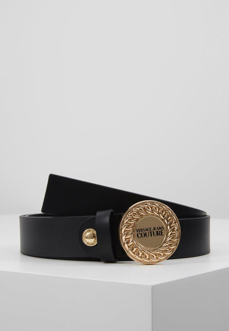 Versace Jeans Couture - CIRCLE LOGO BELT - Belt - black