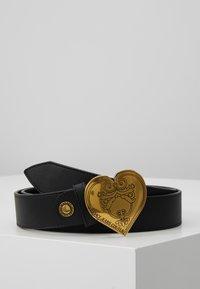 Versace Jeans Couture - HEART BELT REGULAR - Pásek - black - 0