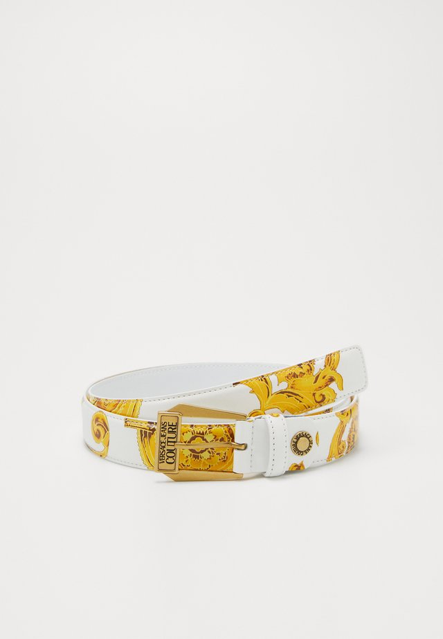 BAROQUE PRINT PATENT BELT - Riem - white/gold-coloured