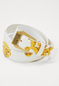 Versace Jeans Couture - BAROQUE PRINT PATENT BELT - Pásek - white/gold-coloured - 2