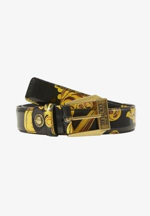 BAROQUE PRINT PATENT BELT - Cintura - nero/oro