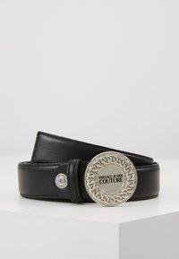 Versace Jeans Couture - CIRCLE LOGO METALLIC BELT - Pásek - nero - 0