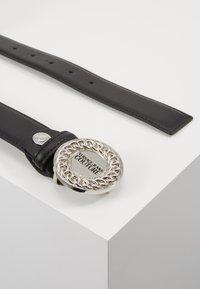 Versace Jeans Couture - CIRCLE LOGO METALLIC BELT - Pásek - nero - 4
