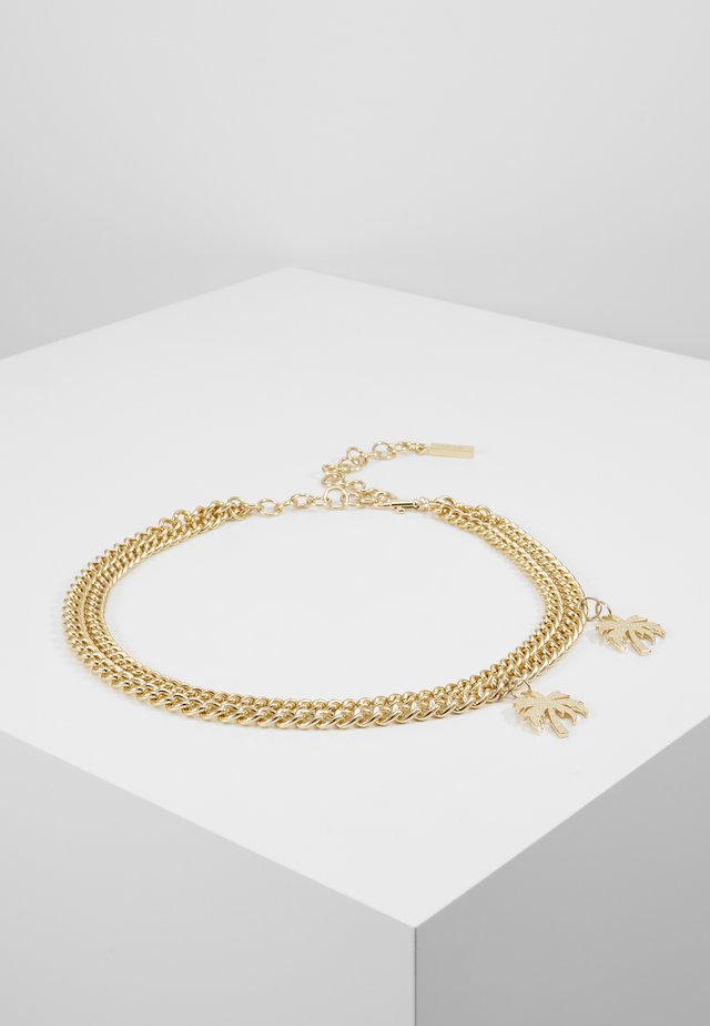 CHAIN LAYERED CHARM BELT - Bransoletka - gold-coloured