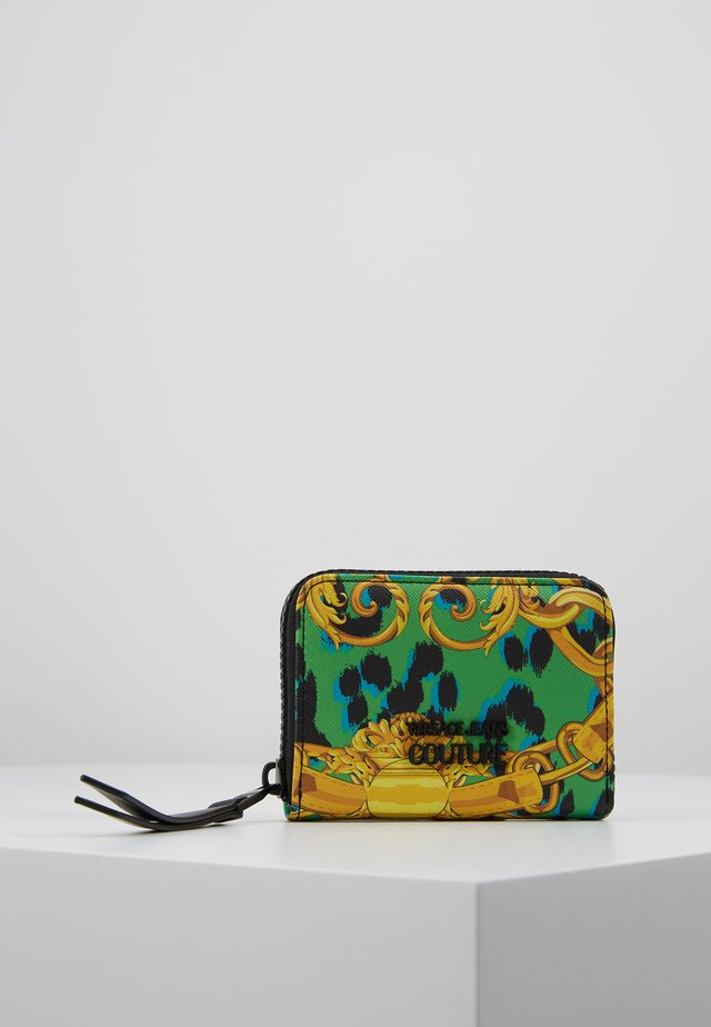 LEOPARD BAROQUE SAFFIANO ZIP AROUND - Wallet - frog