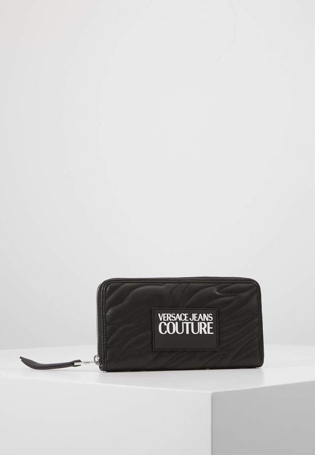QUILTED ZIP AROUND PURSE - Geldbörse - nero