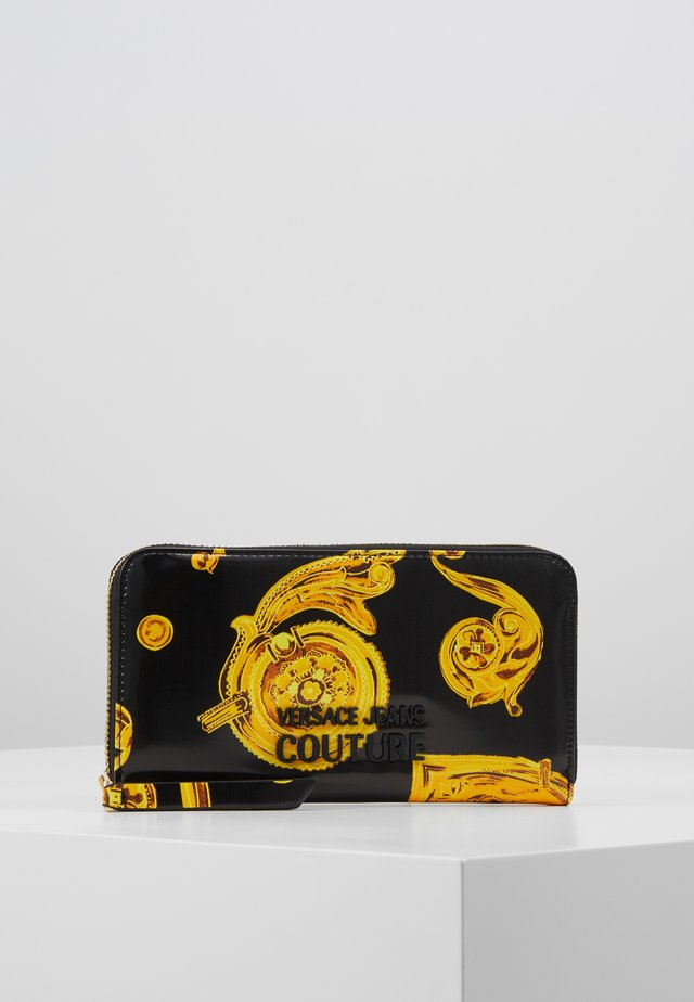 PATENT BAROQ ZIP AROUND PURSE - Portemonnee - nero/oro