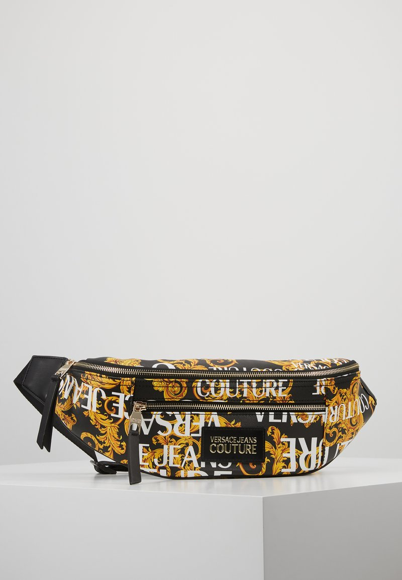 Versace Jeans Couture - BELT BAG - Sac banane - black/gold coloured