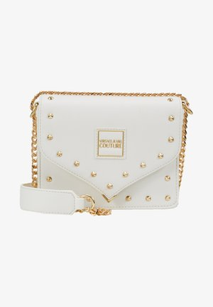 STUDS SMALL SHOULDER BAG - Umhängetasche - bianco ottico
