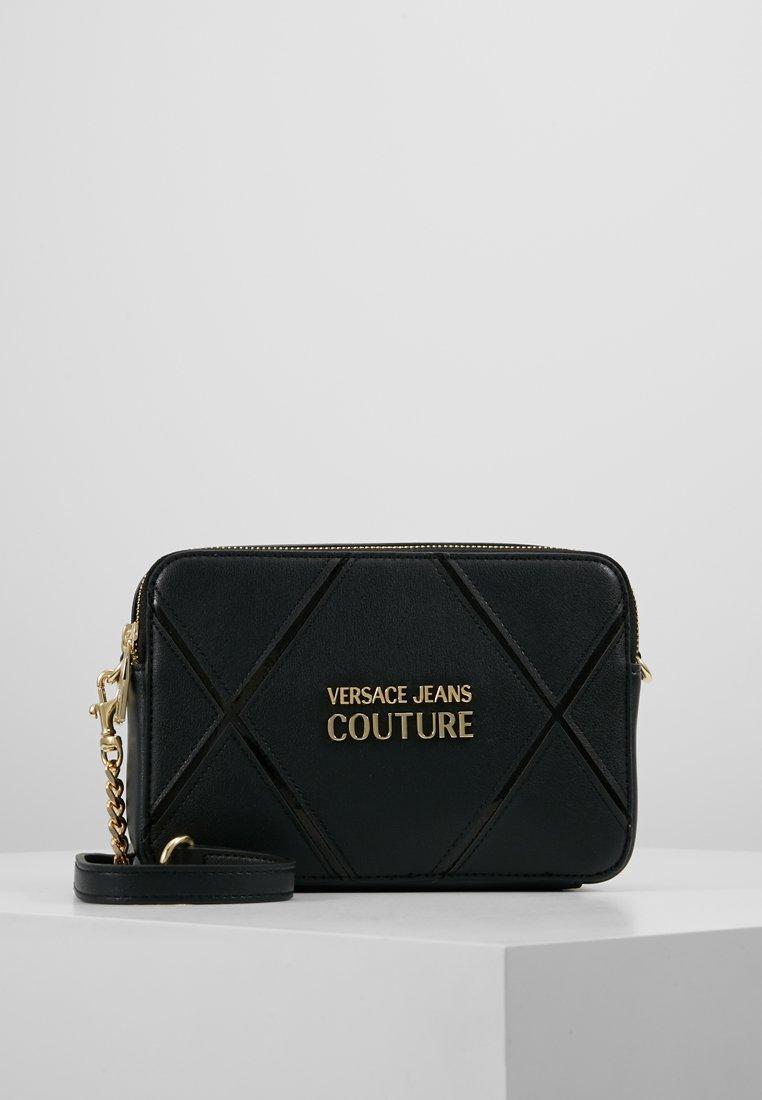 Versace Jeans Couture - DOUBLE ZIP CROSSBODY PATNET - Schoudertas - nero