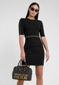Versace Jeans Couture - QUILTED HANDBAG - Handtas - nero - 1