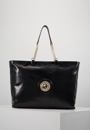ROUND BUTTON PATENT - Shopper - nero