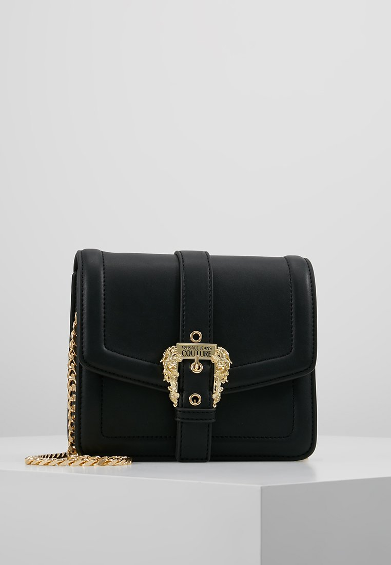 Versace Jeans Couture - BELT BUCKLE SHOULDER BAG SMALL - Across body bag - nero