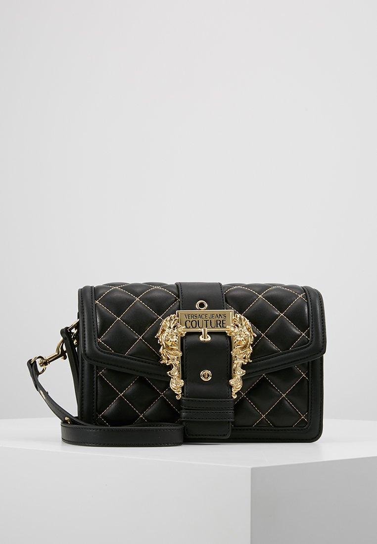 Versace Jeans Couture - BELT BUCKLE BAG QUILTED - Handtas - black