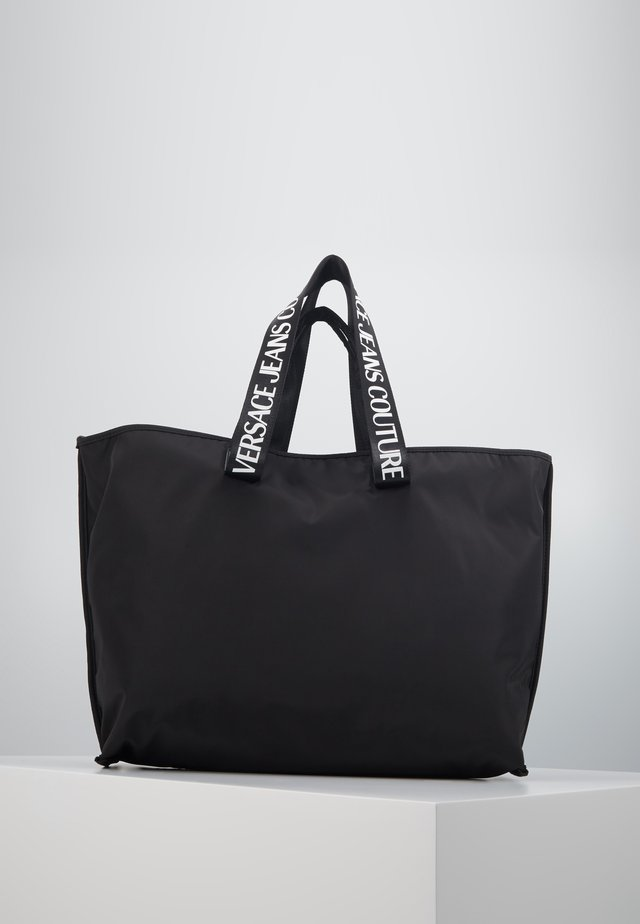 STUDDED SHOPPER - Tote bag - black