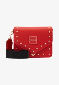 Versace Jeans Couture - STUDDED FLAP OVER - Schoudertas - red - 5