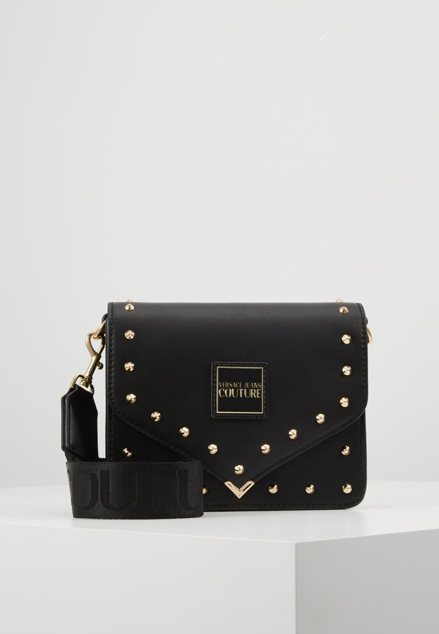 STUDDED FLAP OVER - Across body bag - black