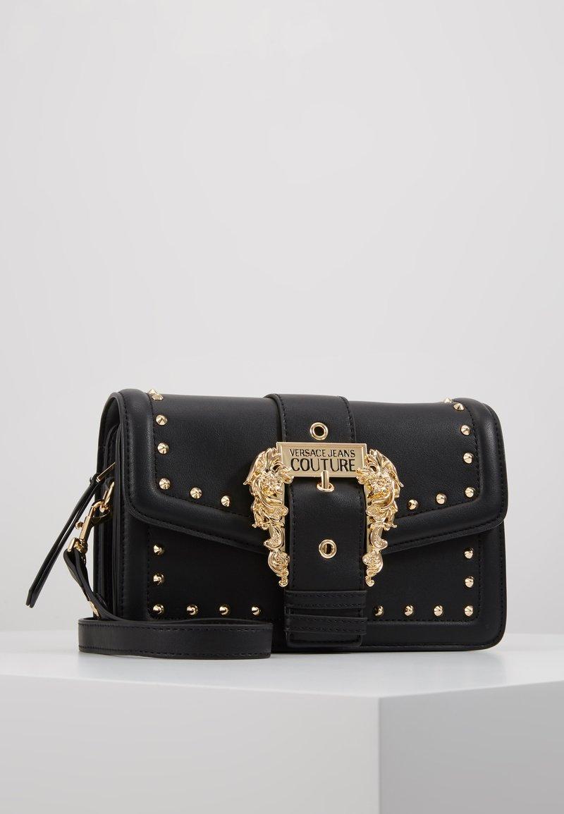 Versace Jeans Couture - BAROQUE BUCKLE STUD SHOULDER  - Across body bag - black