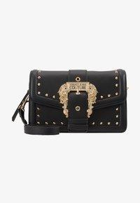 Versace Jeans Couture - BAROQUE BUCKLE STUD SHOULDER  - Across body bag - black - 5