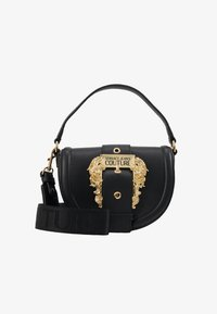 Versace Jeans Couture - BAROQUE BUCKLE HALF MOON - Handbag - black - 4