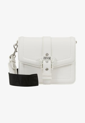 BAROQUE BUCKLE FLAP OVER - Across body bag - white
