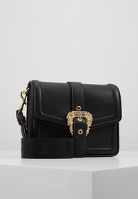 Versace Jeans Couture - BAROQUE BUCKLE FLAP OVER - Across body bag - black - 0