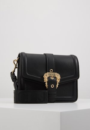 BAROQUE BUCKLE FLAP OVER - Across body bag - black