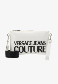 Versace Jeans Couture - PATENT POUCH ON STRAP LOGO - Pikkulaukku - white - 1