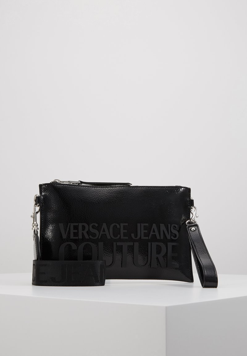 Versace Jeans Couture - PATENT POUCH ON STRAP LOGO - Clutch - black
