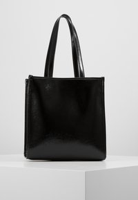 Versace Jeans Couture - PATENT LOGO TOTE - Torebka - black - 2