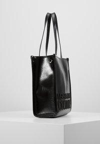 Versace Jeans Couture - PATENT LOGO TOTE - Torebka - black - 3