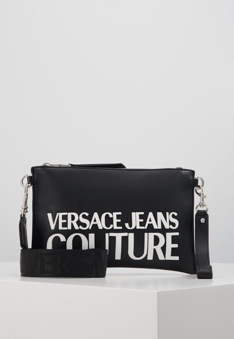 Versace Jeans Couture - MACRO LOGO POUCH - Clutch - black