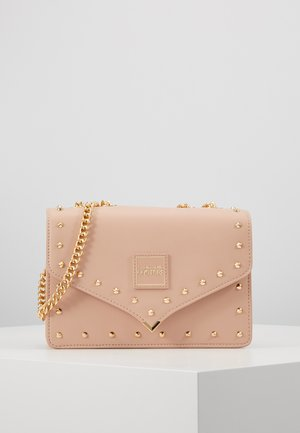 STUDDED SHOULDER BAG - Across body bag - naked pink