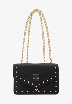 STUDDED SHOULDER BAG - Sac bandoulière - black