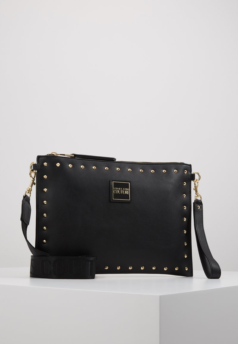 Versace Jeans Couture - STUDDED POUCH ON STRAP - Clutch - black