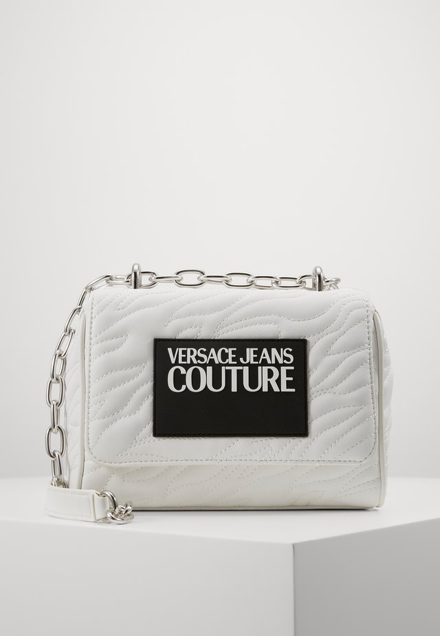 QUILTED CHAIN - Across body bag - bianco