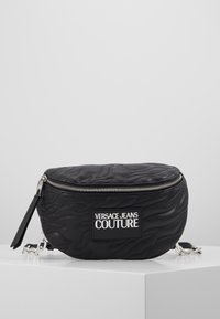 Versace Jeans Couture - QUILTED BELT BAG - Ledvinka - nero - 0