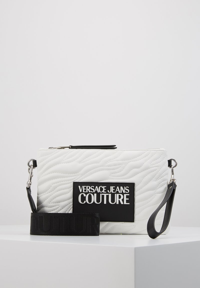 Versace Jeans Couture - QUILTED POUCH WITH STRAP - Clutch - bianco