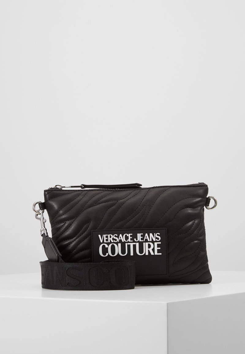 Versace Jeans Couture - QUILTED POUCH WITH STRAP - Clutch - nero