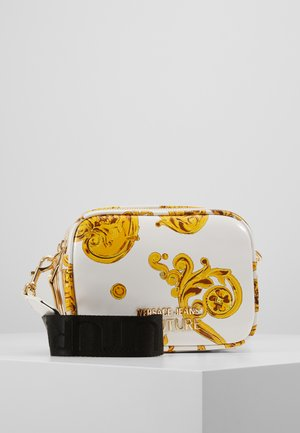 PATENT BAROQ CAMERA - Across body bag - white/gold