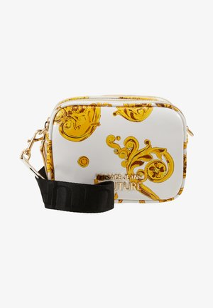 PATENT BAROQ CAMERA - Bandolera - white/gold
