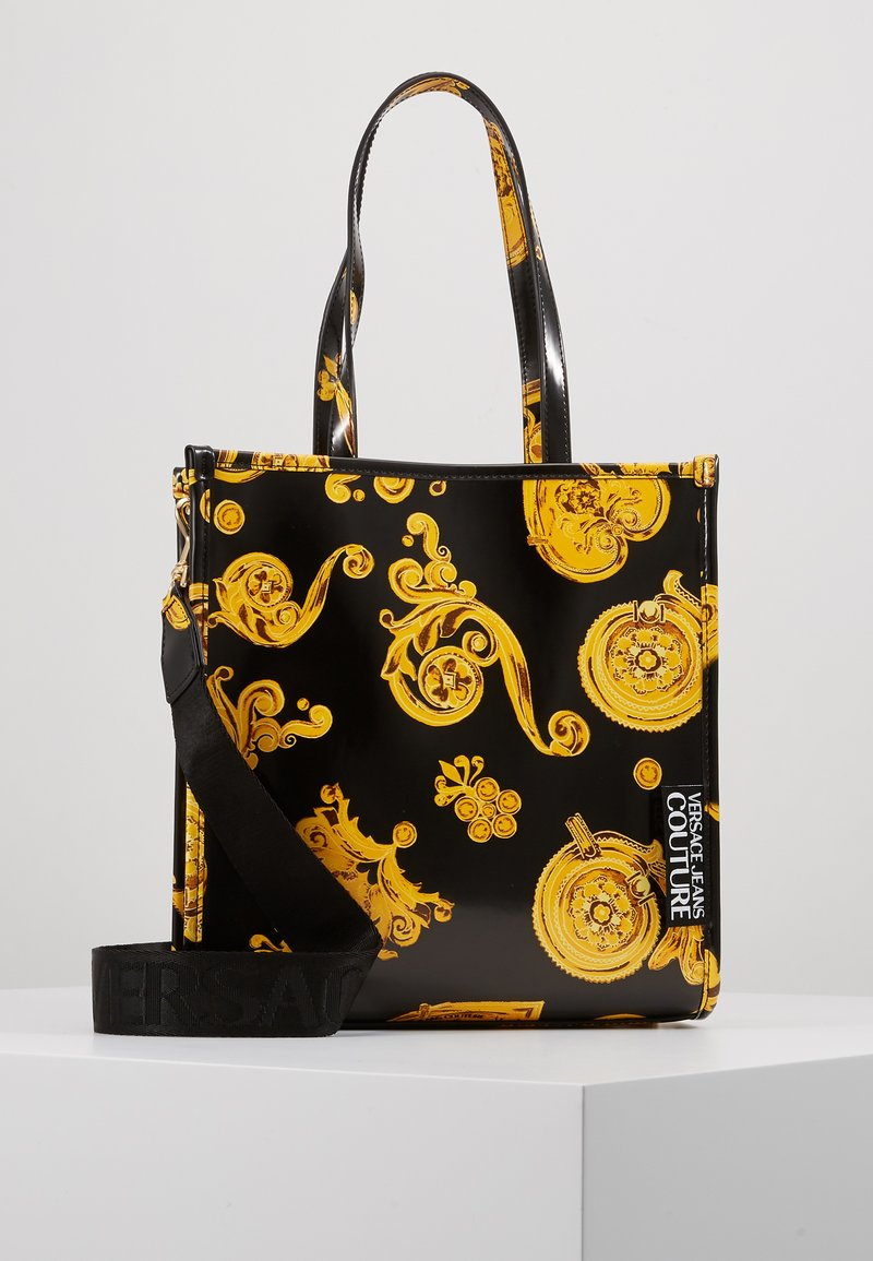 Versace Jeans Couture - MED NS TOTE BAROQ - Tote bag - nero/oro