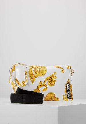 MED POUCH PATENT BAROQ - Pochette - white/gold