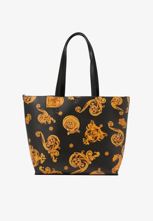 REVERS PRINT LOGO SET - Handbag - nero/oro
