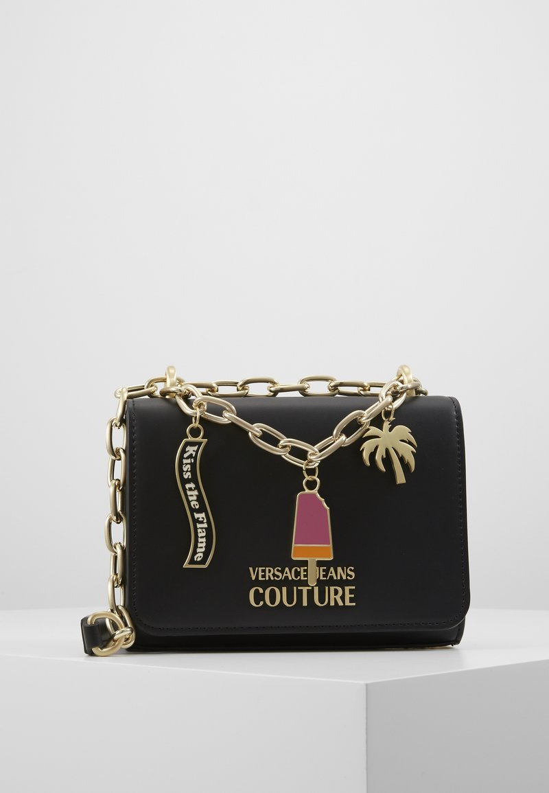 Versace Jeans Couture - CHAIN CHARMS - Schoudertas - nero