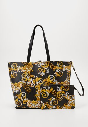 Handtasche - black/yellow