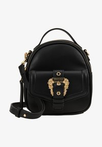 Versace Jeans Couture - BAROQUE BUCKLE MINI BACKPACK - Batoh - black - 1